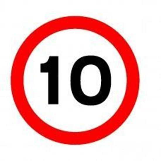 10 MPH Speed Limit Sign