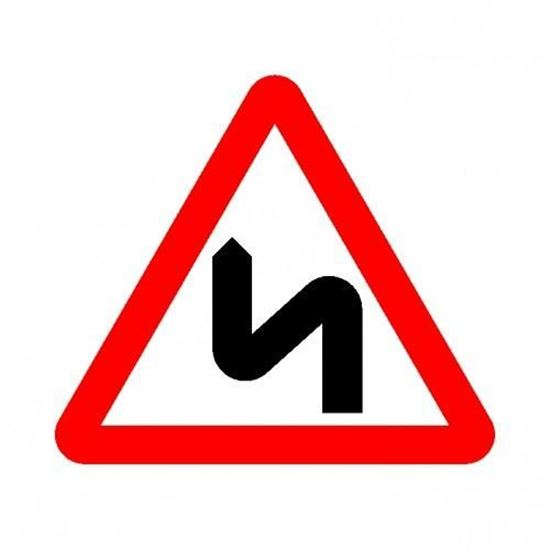 Double Bend Left Road Sign