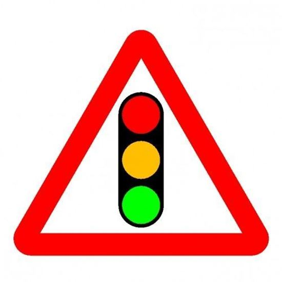 Traffic Lights Road Sign