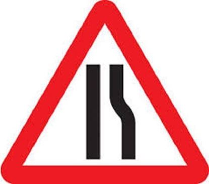 Road Narrows Right Road Sign