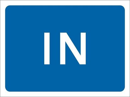 In road sign