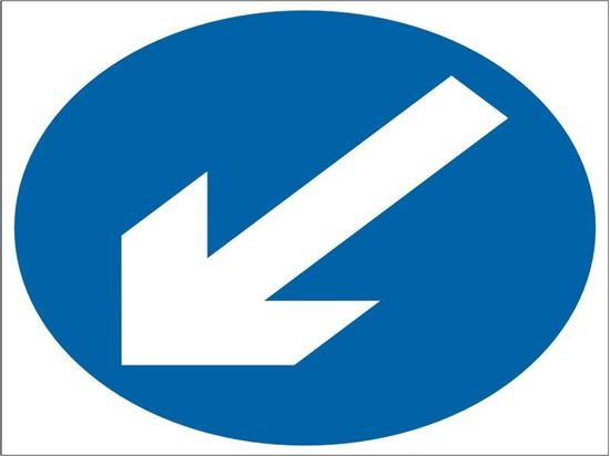 Keep Left arrow road sign