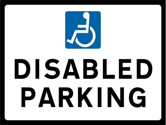 Disabled Parking road sign