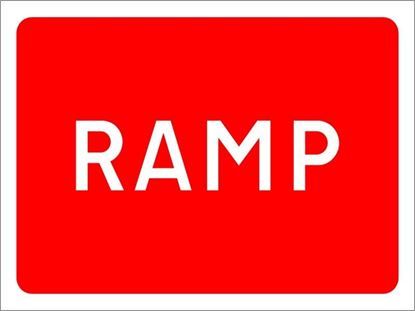 Ramp road sign