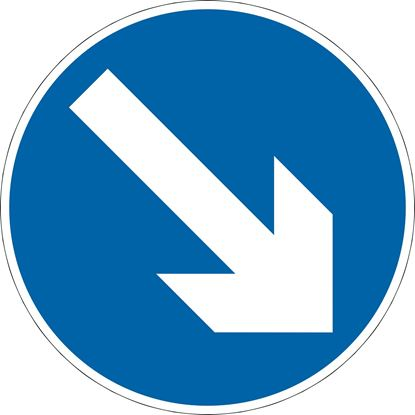 610 direction around island or obstacle Right