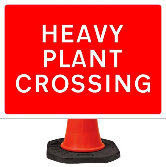 Heavy plant crossing road signs