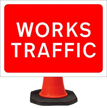 Works traffic road signs