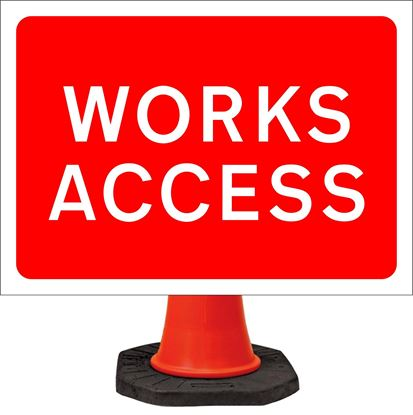 Works access road signs