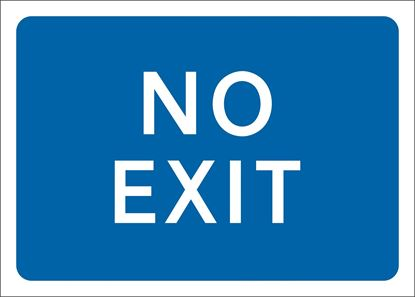 No exit road signs